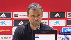Primera derrota de Luis Enrique como seleccionador