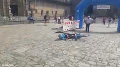 El récord más doloroso de Mikel Azparren en el Camino de Santiago