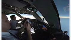 Eclipse total desde un avión