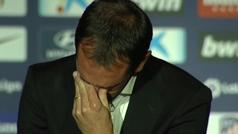 Godín se despide entre lágrimas del Atlético de Madrid