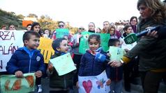 '¡Que te rescaten bien!', anima un niño vecino de Totalán a Julen