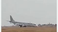 Un avión birmano consigue aterrizar sin ruedas delanteras