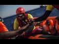 Una patrullera de guardacostas libios, formados y financiados Unión...