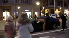 Altercados en la huelga de taxis de Barcelona