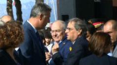 Encontronazo de Albiol y Torra en Cambrils, momentos antes del homenaje a las víctimas