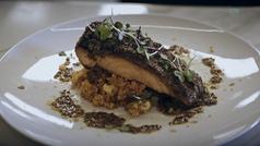 Recetas sencillas y saludables: taco de salmón con cuscús
