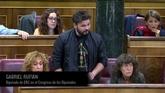 ERC abandona el pleno tras pedir a Rajoy sacar 'sus sucias manos' de...