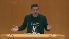 """La peculiar intervención de un senador que repite """"Cataluña"""" durante un minuto"""