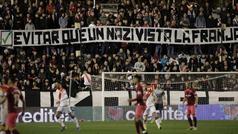 """Suspendido el Rayo - Albacete tras los cánticos de """"puto nazi"""" a Zozulia"""