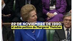 Margaret Thatcher y su histórico discurso de renuncia en el Parlamento británico