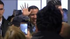 Juan Guaidó llega a Madrid