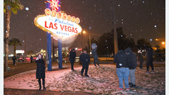Nieva por primera vez en una década en Las Vegas