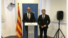 Polémica entre Gobierno y Govern por denegar el permiso a los escoltas de Torra para ir a Bruselas