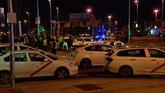 Los taxistas colapsaron ayer los accesos a Ifema, en Madrid.