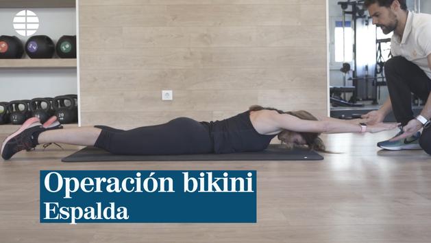Ejercicio de espalda con Miguel Rojo, ceo de Cool Health Club (Madrid).