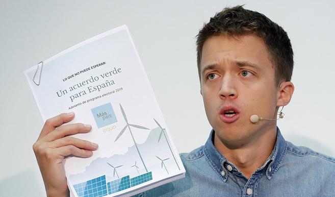 Íñigo Errejón propone una semana laboral de cuatro días y el voto desde los 16 años en su 'Acuerdo verde para España'