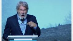 El enérgico discurso de Harrison Ford en defensa de la naturaleza