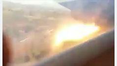Un pasajero graba desde el interior el accidente de su avión