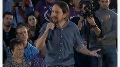 """Pablo Iglesias pide el voto para que el PSOE no pacte con Ciudadanos, al que acusa de tener un """"discurso de extrema derecha"""""""