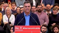 Pedro Sánchez: 'Viva España, claro, pero que no viva enfrentada como quieren las tres derechas'