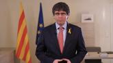 Puigdemont lanza un mensaje institucional tras aprobar el Parlament su...