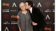 Así dedicó Daniel Guzmán el Goya a su abuela Antonia Guzmán en 2016