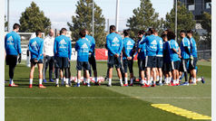 Primer entrenamiento tras la vuelta de Zinedine Zidane al Real Madrid