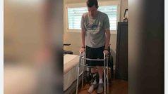 Un tetrapléjico logra ponerse de pie solo tras más de 3 años intentándolo