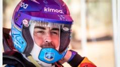 Alonso valora su primera clase en Sudáfrica pensando en el Dakar