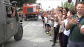 Los 'héroes' de la UME se despiden de Orihuela entre aplausos y...