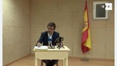 """Jordi Sànchez, en rueda de prensa desde la cárcel: """"El PSOE necesita un socio estable, aceptará el referéndum"""""""