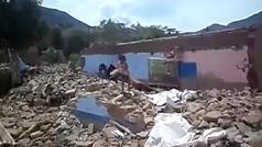 Las lluvias torrenciales provocan la desaparición de una aldea de Perú