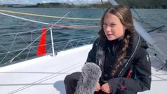 Greta Thunberg viaja en un velero de cero emisiones por el Atlántico hacia Nueva York