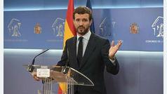 """Pablo Casado defiende que nunca se planteó la abstención """"España no se puede quedar sin alternativa"""""""