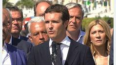 Pablo Casado acude al homenaje de las víctimas del atentado terrorista en Cambrils