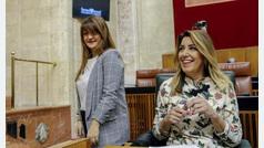 """Susana Díaz acusa a Juanma Moreno de pactar con los """"herederos del franquismo"""""""
