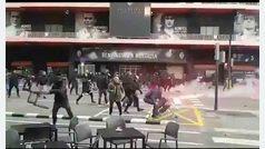Graves incidentes entre ultras entre los Yomus y Boixos en Valencia