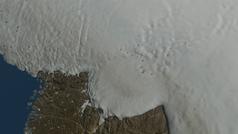 Descubierto un enorme cráter bajo el manto de hielo de Groenlandia