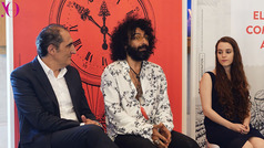 Ramón Bilbao apoya la música con sus becas para jovenes junto a Ara Malikian