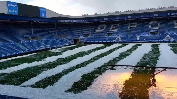 Alavés: La nieve, protagonista en Mendizorroza   Marca.com