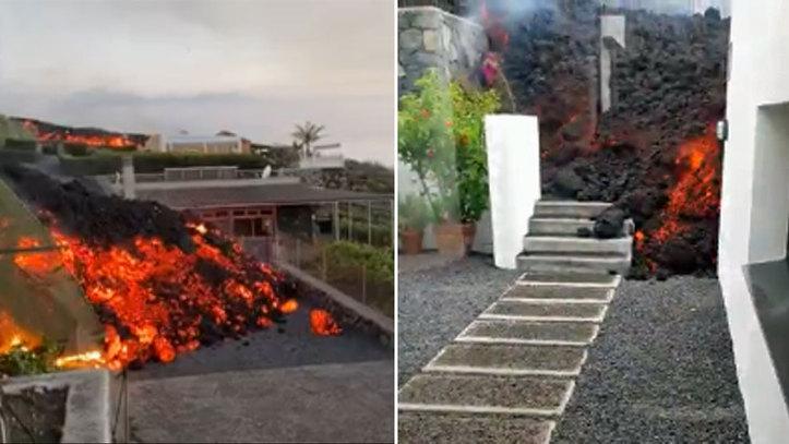 Impresiona verla tan de cerca: así entra en las casas la lava del volcán de  La Palma | Marca