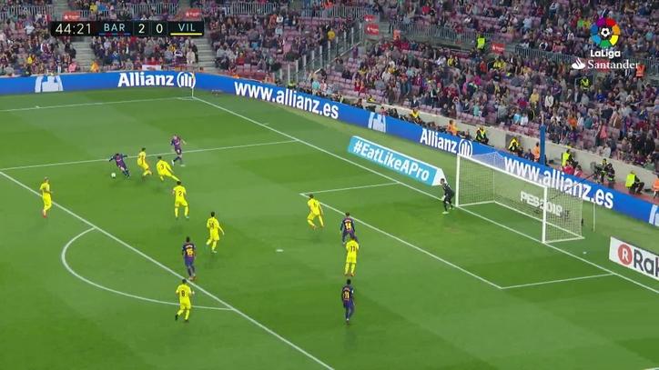 Gol De Messi 3 0 En El Barcelona 5 1 Villarreal