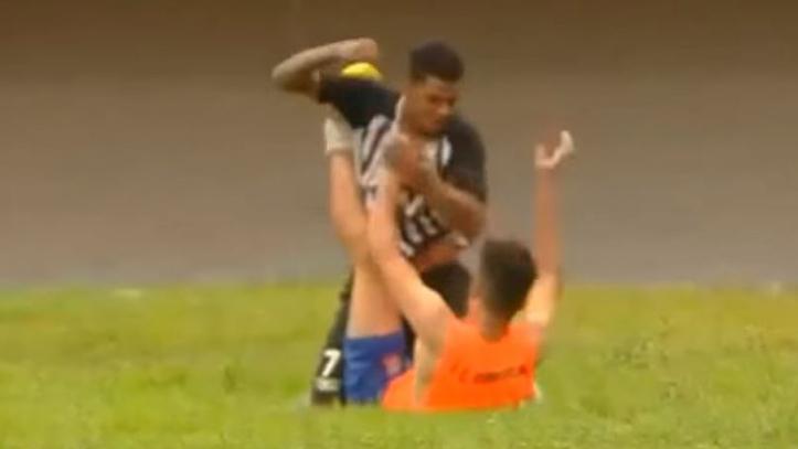 Brazil Player Attacks Ball Boy For Celebrating Goal In Brazilian