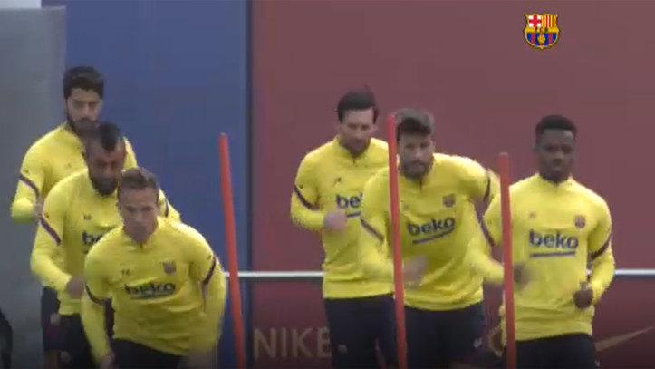 enchufe Posesión Custodio  FC Barcelona: Messi se suma al trabajo con el grupo: estará en Mallorca |  Marca.com