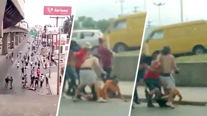 Resultado de imagen para violencia en partido de monterrey tigres un herido