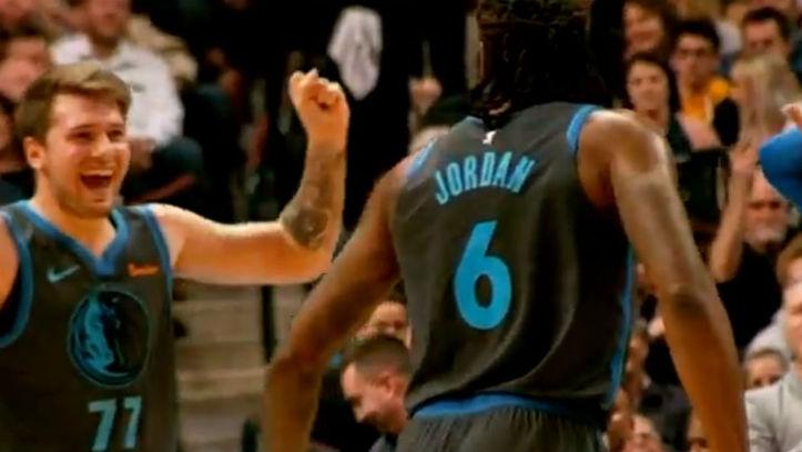 Posible sombrero Escarpado  NBA: La conexión Luka Doncic-DeAndre Jordan desata el baile de la noche en  la NBA   Marca.com