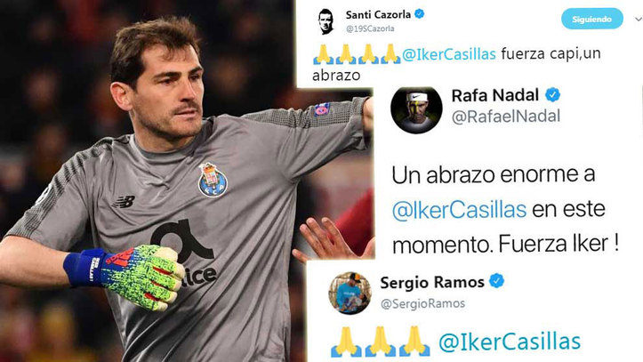 c0c3b961fb8 El mundo del deporte se vuelca con Iker Casillas: la Selección, el ...