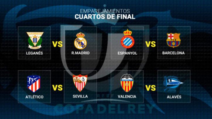 Resultado Sorteo Copa del Rey: Leganés-Real Madrid y Espanyol ...