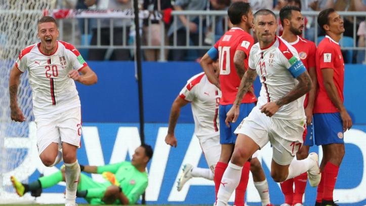 Resultado de imagen para el gol de serbia   a costa rica