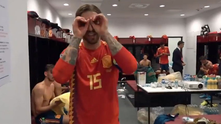 free shipping 6510f fe718 Sergio Ramos pays homage to his nephew back in the Spain dressing room.